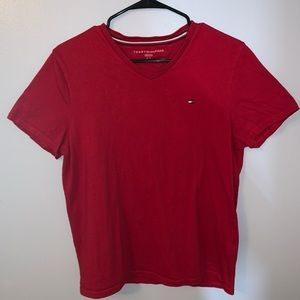 Tommy Hilfiger Red T Shirt (Small)